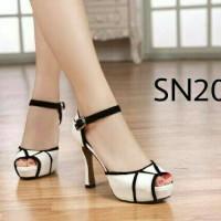 harga Sepatu Sandal High Heels Cewek Wanita Korea Putih Pesta Elegan Murah Tokopedia.com