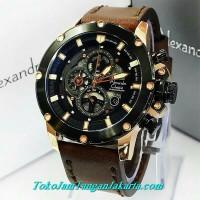 jam tangan alexandre christie ac 6416 rose gold