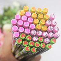 Pensil Kayu Dengan Ujung Penghapus Aneka Motif