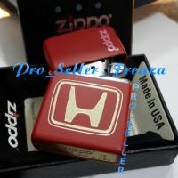 Zippo Super Premium Custom Logo Honda + Gratis Req Nama!!