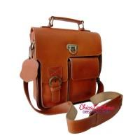 tas kulit selempang pria premium leather bag