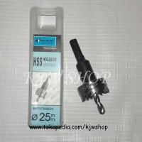 Holesaw / Hole Saw / Pelubang PVC Kayu Plat HSS Ukuran 25mm