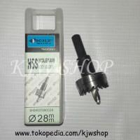 Holesaw / Hole Saw / Pelubang PVC Kayu Plat HSS Ukuran 28mm