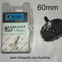 Holesaw / Hole Saw / Pelubang PVC Kayu Plat HSS Ukuran 60mm