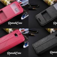 Flipcover Dompet Keren Leather Premium Classic Case Casing HTC One M8