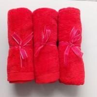 Jual Handuk Kecil/Handuk Souvenir Teapai Merah Polos Murah