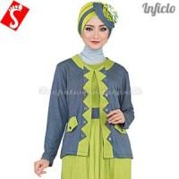 Baju Muslim Wanita Gamis Spandek Hijau SNSS922|m-xl|gam KEREN