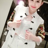 jaket / coat/ blazer / cardigan model elegant batik unik trendy impo