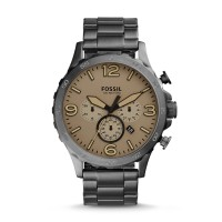 Fossil JR1523 - Nate Chronograph Smoke Stainless Steel Watch