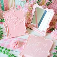 Pocket Mirror Cermin Saku Shabbychic Kosmetik Accessories