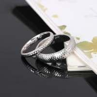 White gold Sparkle Mesh Ring cincin emas putih cincin couple ukir nama