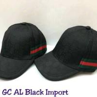 TOPI GUCCI AL GHAZALI IMPORT FULL BLACK