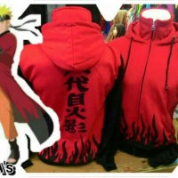 Jaket Yondaime Merah / Anime Naruto Hokage Cosplay