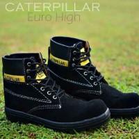 Sepatu Boots CAT Pria Euro Hight Black Suede