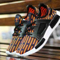 Sepatu Adidas NMD Stripes Orange Black Running Sport