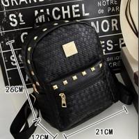 harga tas ransel anyam kecil summer backpack ladies bag bta094 Tokopedia.com