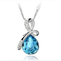 Kalung Wanita / Queen Angel Crystal Necklace 925 Sterling Silver