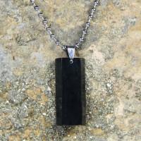 Jual Kalung Liontin Batu Giok Hitam / Black Jade Natural LT308 Murah