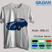 Kaos Gildan Softstyle - Automotif, Katun, Animasi, Mobil / Car