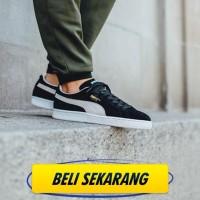 PUMA SUEDE CLASSIC BLACK WHITE ( PREMIUM QUALITY ) sepatu jogi M.K