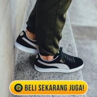 PUMA SUEDE CLASSIC BLACK WHITE ( PREMIUM QUALITY ) sepatu jo LarisJaya