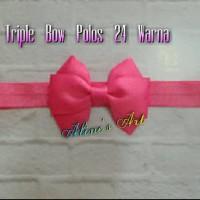 Bandana bayi/baby headband- Triple Bow Polos