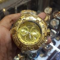 Jam Tangan Pria Invicta Reserve W/R 500mt Gold Silver