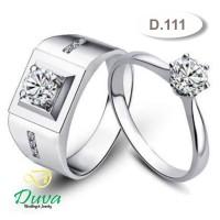 Cincin Kawin Tunangan Perak Couple D.111