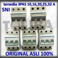 mcb hager 3 phase 6a 10a 16a 20a 25a 32a 40a SNI original mcb listrik