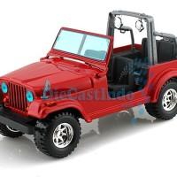 Bburago - Jeep Wrangler (Merah) Skala 1:24
