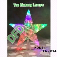 Aksesoris Natal / Ornamen Natal ( Top Bintang Lampu S)