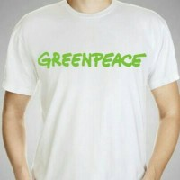 T shirt greenpeace white