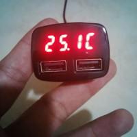 harga 4 in 1 USB Car Charger, Ampere Meter, Voltmeter dan Suhu / Temperatur Tokopedia.com