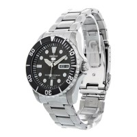 SEIKO 5 SNZF17 AUTOMATIC BLACK DIAL DIVER STAINLESS STEEL