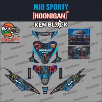 Sticker striping motor stiker Yamaha Mio Sporty Hoonigan Car Spec B