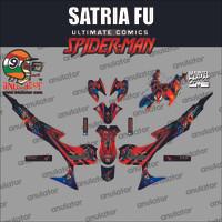 Sticker striping motor stiker Suzuki Satria FU Spiderman Spec B