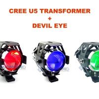 harga Lampu Sorot LED Cree Transformer U5 + Demon / Devil Eye GARANSI!! Tokopedia.com