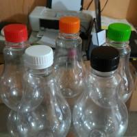 Jual Botol / Jar Plastik Unik Bohlam Kopi Susu Teh Tarik 300 ML Murah