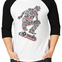 Kaos Skaters/T-Shirt Raglan K48