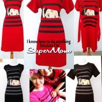 Jual Midi Dress Baju Hamil Baby Peeking SuperMom XL Murah