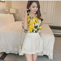 Baju wanita Fashion lemon model sabrina