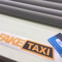Cutting Sticker / Stiker Mobil Fake Taxi Oracal 651 German Doff / Matt