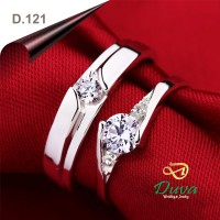 Cincin Kawin Tunangan Perak Couple D.121
