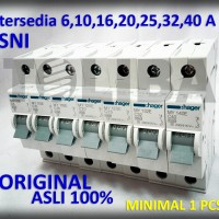 mcb listrik hager 1phase 1p 6a 10a 16a 20a 25a 32a 40a SNI original