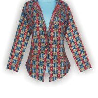 Model Batik Kerja, Batik Wanita Modern, Grosir Baju, KBLA3