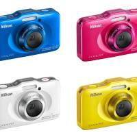 Jual Nikon Coolpix S33 Compact Underwater Camera kamera canggih mini bagus Murah