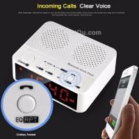 harga Bluetooth Speaker + Jam Meja Digital + Radio + Handsfree Alarm KD-66 Tokopedia.com