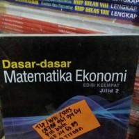 harga dasar-dasar matematika ekonomi jilid 2 edisi 4 alpha chiang Tokopedia.com