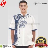 Baju Koko Katun Paris Putih SPS111-03/Baju Muslim Pria M - HARGA MURAH