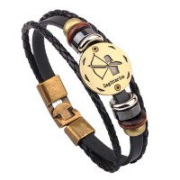Gelang Zodiak Sagitarius Pattern Multilayer Simple Bracelet
